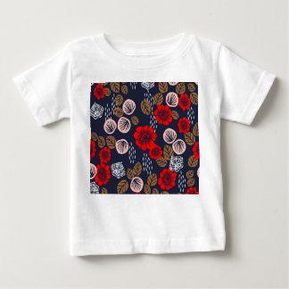Butterfly Garden Red Pink Blue Brown Andrea Lauren Baby T-Shirt