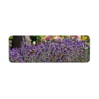 butterfly garden return address label