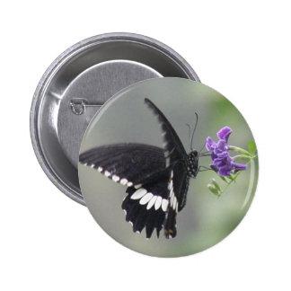 Butterfly Garden Round Button