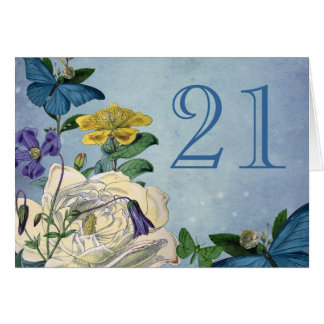 Butterfly Garden Table Number Card