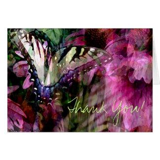 Butterfly Garden Thank You Card