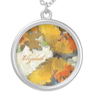 BUTTERFLY GARDEN Yellow Butterfly Design Silver Plated Necklace