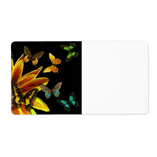 Butterfly Gardens Shipping Label