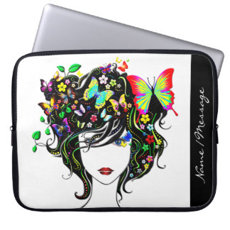 Butterfly Girl 1A Laptop Sleeve