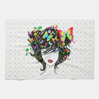 Butterfly Girl 1A Options Kitchen Towels