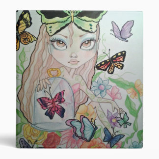 Butterfly Girl Art 3 Ring Binder