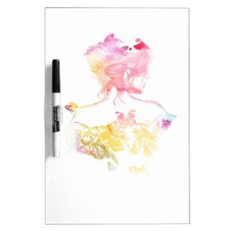 Butterfly Girl Dry-Erase Whiteboards