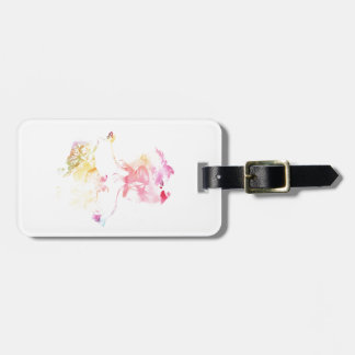 Butterfly Girl Luggage Tag