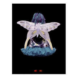 Butterfly Girl Postcard