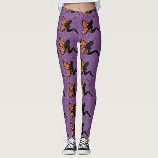 Butterfly Girl Silhouette Leggings