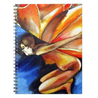 Butterfly girl surreal original fantasy art notebook