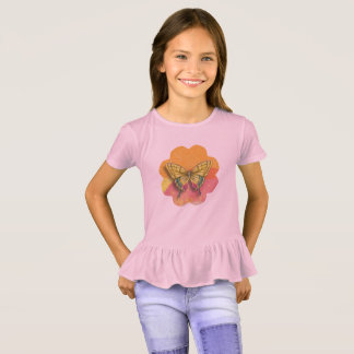Butterfly Girls' Ruffle T-Shirt