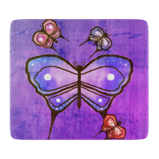 Butterfly glass cutting board