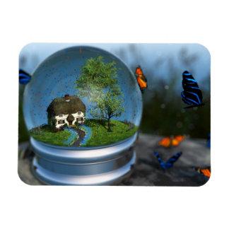Butterfly Globe Flexible Magnet