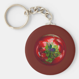 Butterfly Globe with red berries. Key Chains