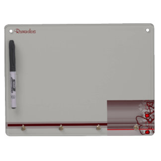 Butterfly Grace Dry Erase Board With Keychain Holder