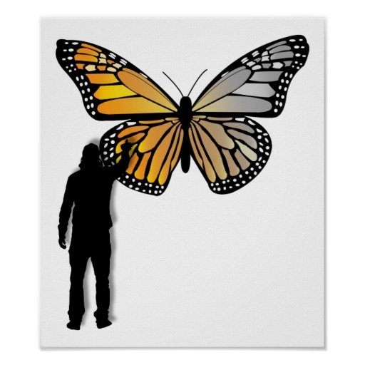 Butterfly Graffiti Funny Poster