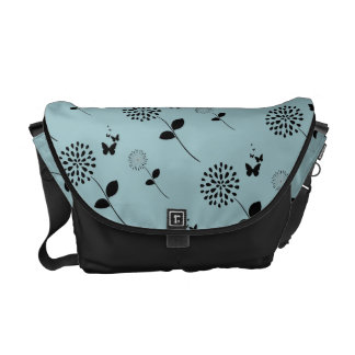 Butterfly Graphic Art Scroll Pattern Messenger Bag
