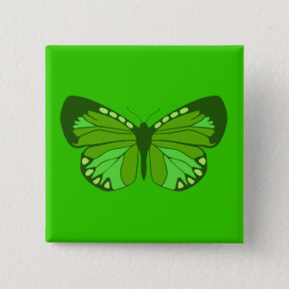 Butterfly Greens 2 Inch Square Button