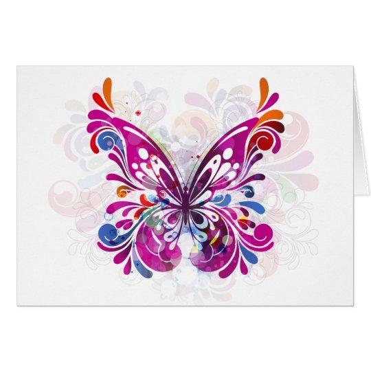 Butterfly Grunge Card