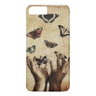 "Butterfly Hands Nature Sad ""Mobile Case"" iPhone 7 Plus Case"