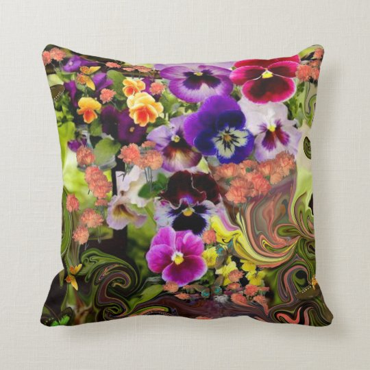 Butterfly Haven. Throw Pillow