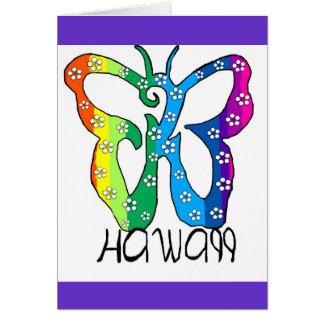 Butterfly Hawaii saying Card
