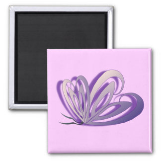 Butterfly Heart Design Magnet