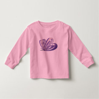 Butterfly Heart Design Toddler T-Shirt