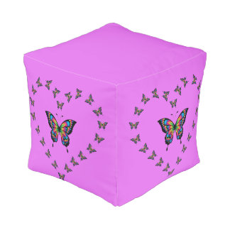 Butterfly Heart Foot Rest Pouf