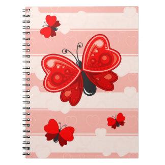 butterfly heart notebooks