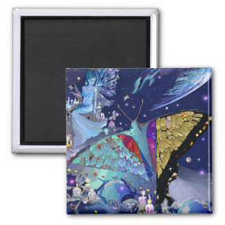 Butterfly Heaven Square Magnet