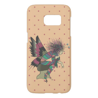 Butterfly Illustration Polka Dots Colorful Cute Samsung Galaxy S7 Case