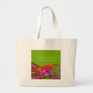 Butterfly in a pond. large tote bag
