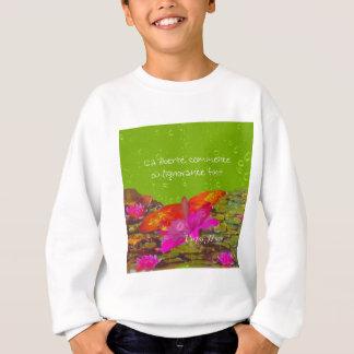 Butterfly in a pond. sweatshirt