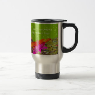 Butterfly in a pond. travel mug