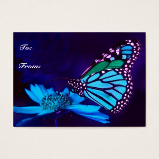 Butterfly in Blue Light Gift Tag Business Card