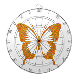 Butterfly in Gold Metallic Dartboard