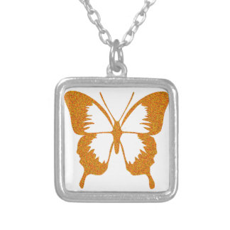 Butterfly in Gold Metallic Silver Plated Necklace
