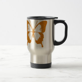 Butterfly in Gold Metallic Travel Mug