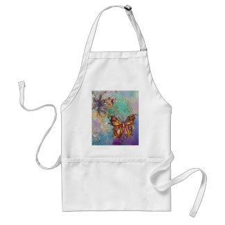 BUTTERFLY IN GOLD SPARKLES APRON