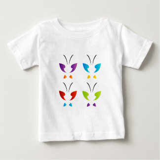 Butterfly in rainbow colors baby T-Shirt