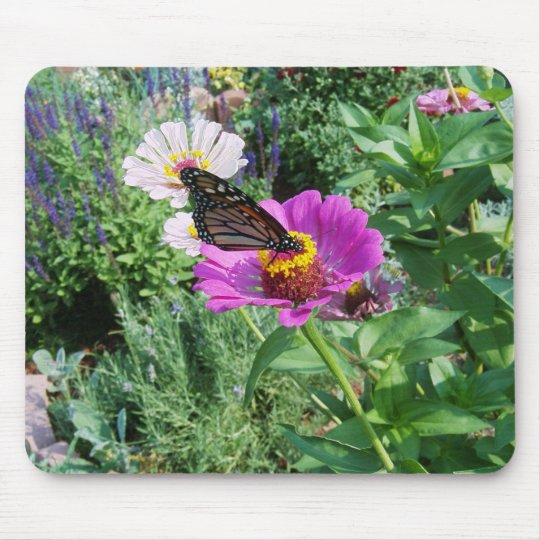 Butterfly in the Garden Mouse Pad