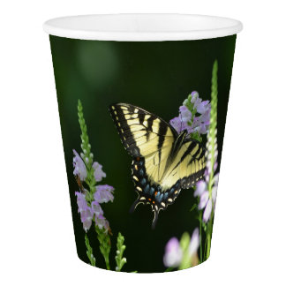 Butterfly In The Garden Paper Cup