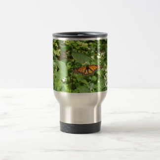 Butterfly in the woods travel mug