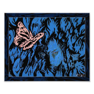 Butterfly In Tulips Photo Print