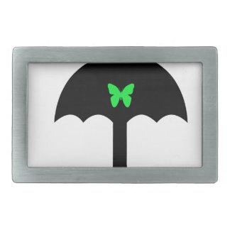Butterfly in Umbrella Belt Buckle