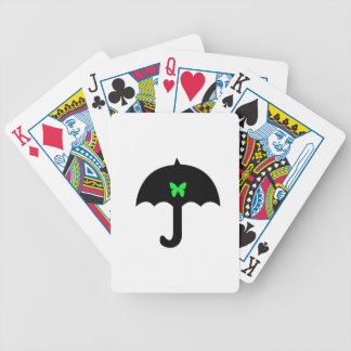 Butterfly in Umbrella Bicycle Playing Cards