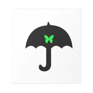 Butterfly in Umbrella Notepad