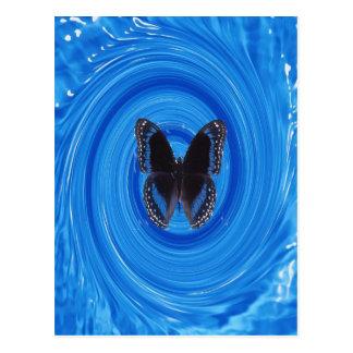 Butterfly in whirlpool, postcard